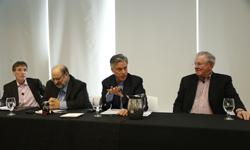 John Resnick, Wharton Prof. Stuart Diamond, Jon Huntsman, Jr. and Steve Forbes