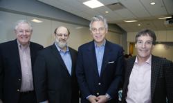 Steve Forbes, Wharton Prof. Stuart Diamond, Jon Huntsman, Jr and John Resnick